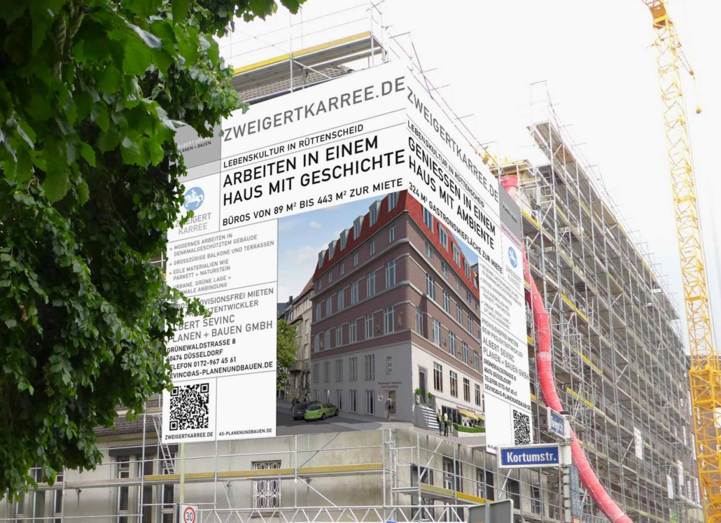 Gestaltung Immobilien Grossplakat