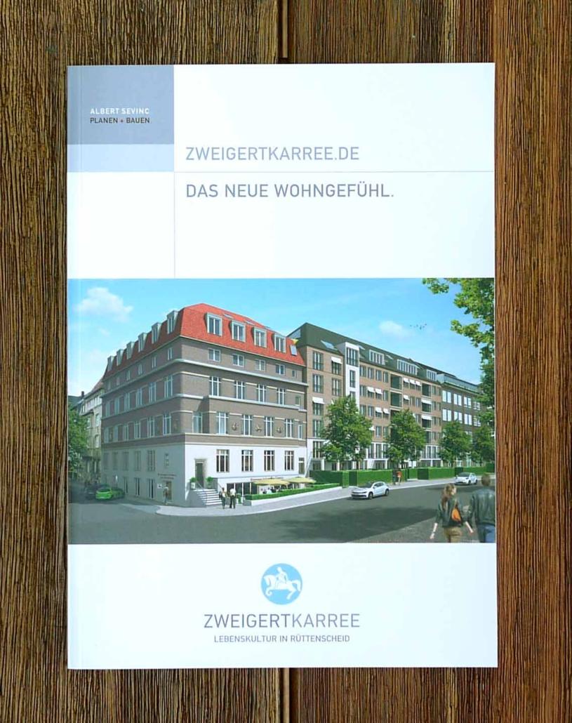 Gestaltung Immobilienbroschuere