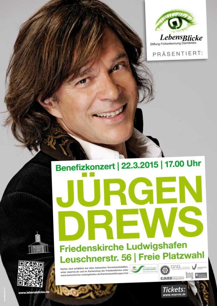 Plakat Stiftung LebensBlicke Jürgen Drews