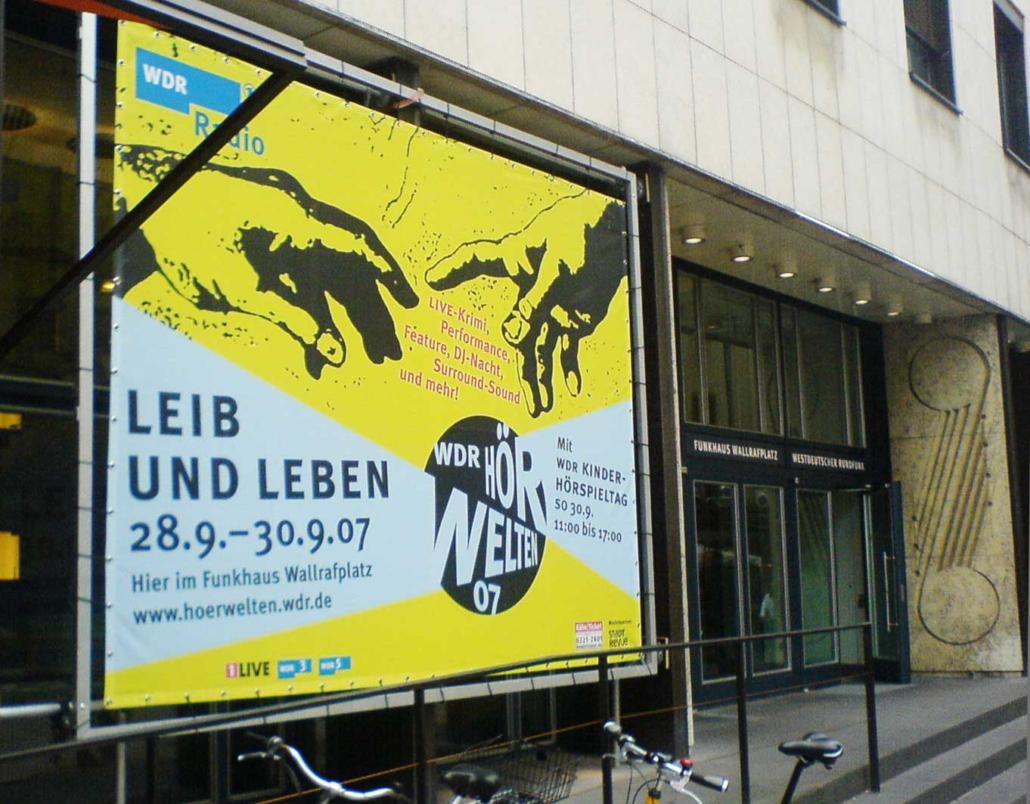 WDR Hoerwelten Gestaltung Plakat