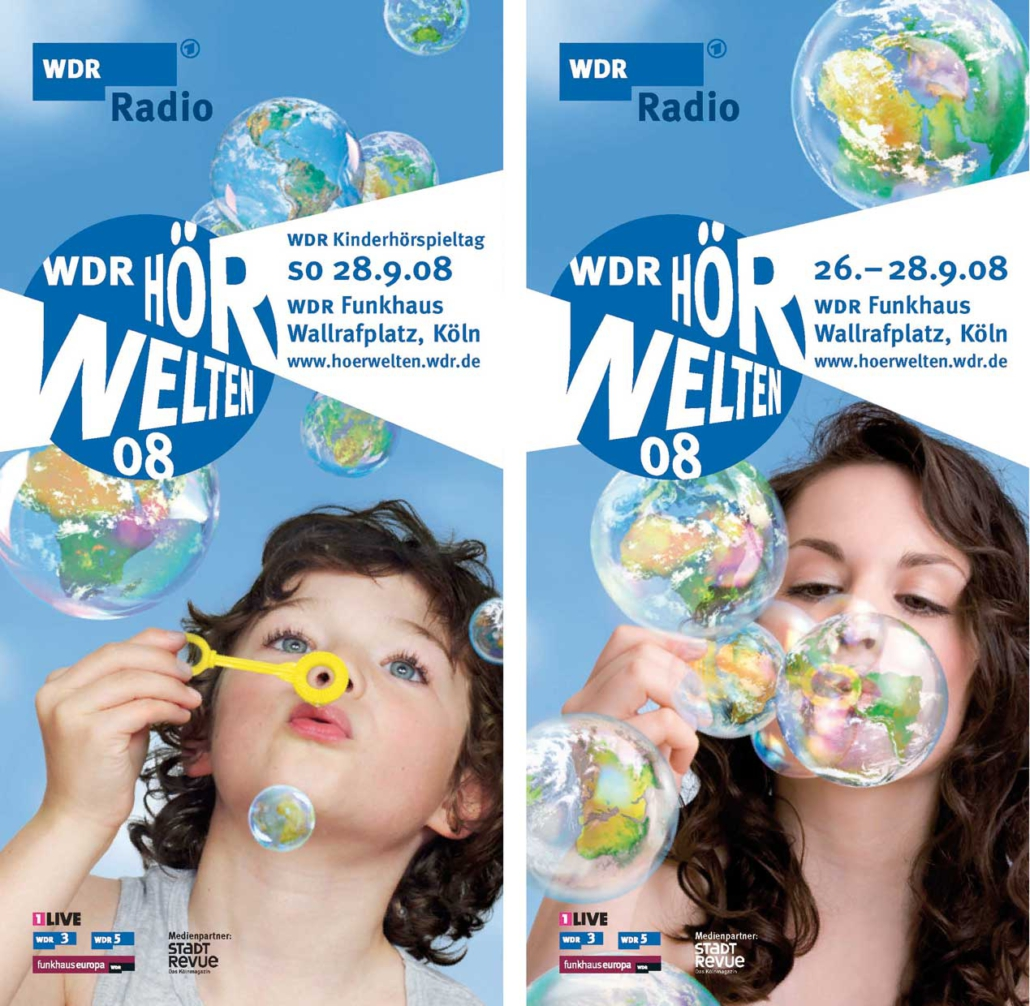 WDR Hoerwelten Gestaltung Flyer