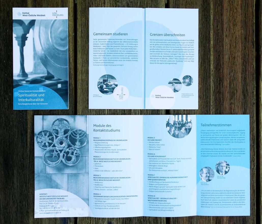 West-Östliche Weisheit Flyer – Gestaltung von Jägerfeld Kommunikation
