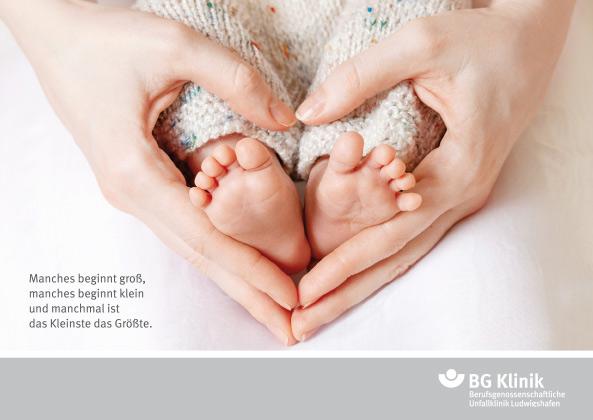 BG Klinik Babyglueckwunschkarte