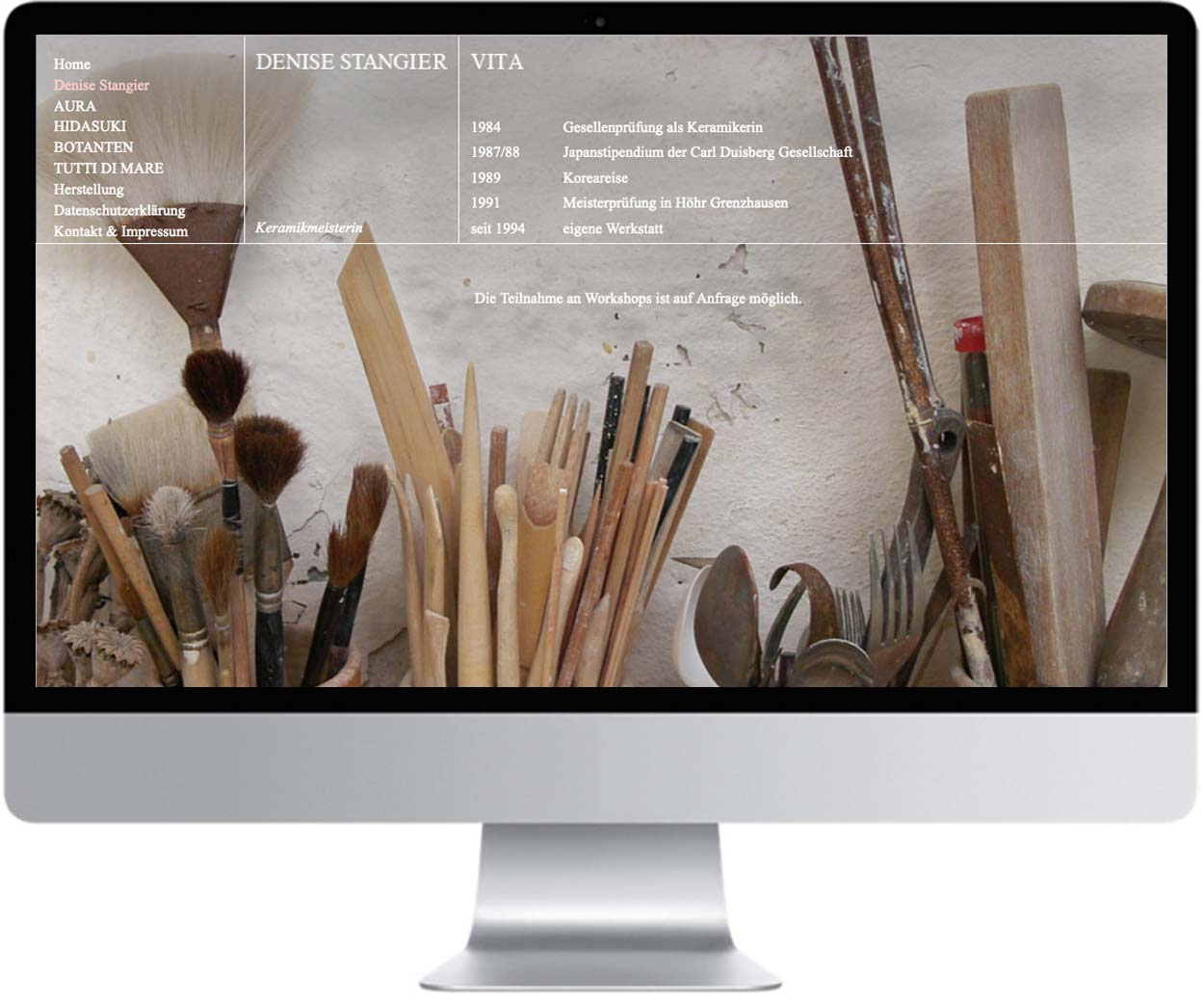 website denise stangier keramik