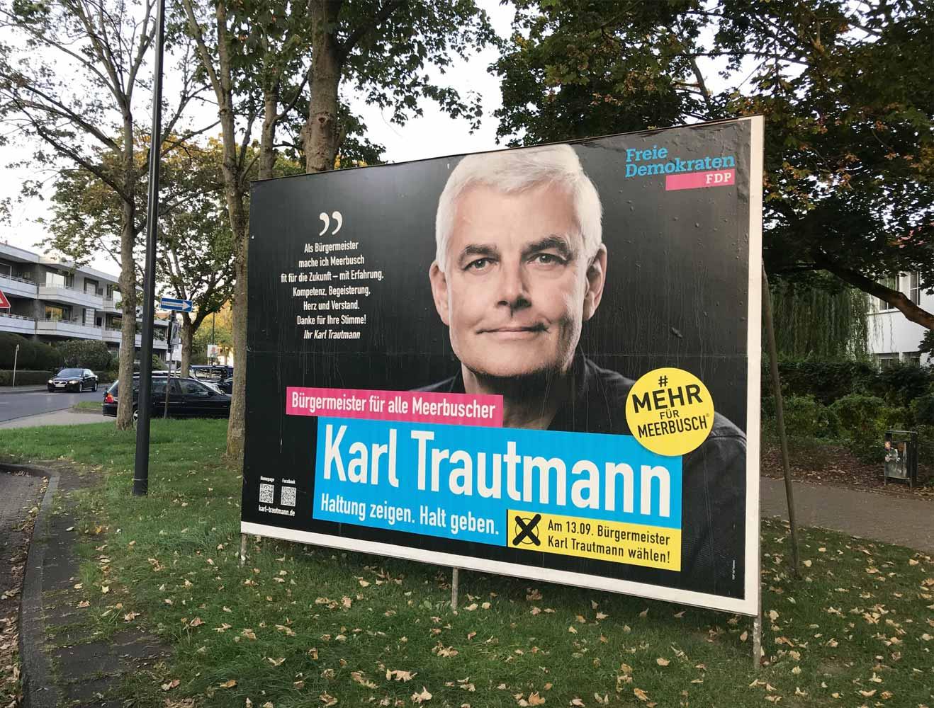 wahlplakat karl trautmann